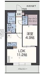 JR御殿場線 大岡駅 徒歩32分の賃貸マンション 4階1LDKの間取り