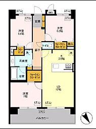 東京メトロ南北線 王子神谷駅 徒歩20分の賃貸マンション 6階3LDKの間取り