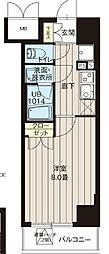 レオーネ高島平 4階1Kの間取り