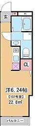 JR山手線 田端駅 徒歩8分の賃貸マンション 4階1Kの間取り