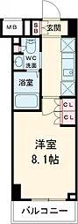 西武新宿線 田無駅 徒歩6分の賃貸マンション 3階1Kの間取り