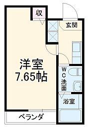 JR山陰本線 二条駅 徒歩17分の賃貸マンション 3階1Kの間取り