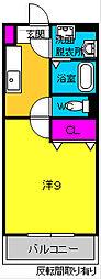 JR東海道本線 磐田駅 徒歩9分の賃貸マンション 3階1Kの間取り