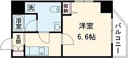 京成押上線 京成立石駅 徒歩11分の賃貸マンション 9階1Kの間取り