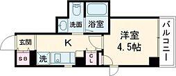 JR京浜東北・根岸線 大森駅 徒歩5分の賃貸マンション 6階1Kの間取り