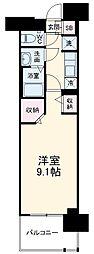 名古屋市営東山線 高畑駅 徒歩3分の賃貸マンション 4階1Kの間取り