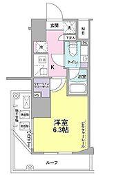 SIL西五反田 7階1Kの間取り