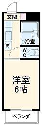 JR東海道本線 岐阜駅 バス35分 粟野口下車 徒歩10分の賃貸マンション 1階1Kの間取り