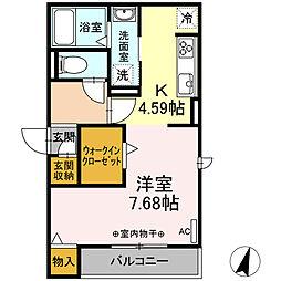 仮)-room松鴻町C棟 2階ワンルームの間取り