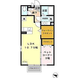 小田急小田原線 鶴川駅 バス10分 真光寺下車 徒歩4分の賃貸アパート 1階1LDKの間取り