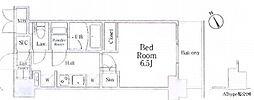 JR山手線 駒込駅 徒歩1分の賃貸マンション 3階1Kの間取り