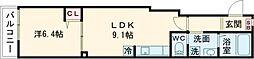 仮称メゾンデルミエール 3階1LDKの間取り