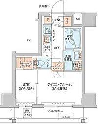 アジールコート新高円寺 7階1DKの間取り