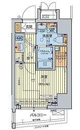 JR山手線 五反田駅 徒歩7分の賃貸マンション 8階1Kの間取り