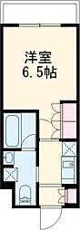 京急本線 立会川駅 徒歩3分の賃貸マンション 1階1Kの間取り