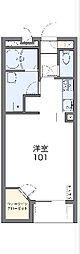 JR成田線 久住駅 徒歩7分の賃貸アパート 2階1Kの間取り