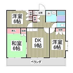 ヴィラトルナーレ 5階3DKの間取り