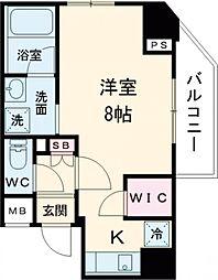 JR山手線 巣鴨駅 徒歩5分の賃貸マンション 3階ワンルームの間取り