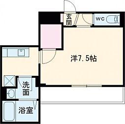 東京メトロ南北線 王子神谷駅 徒歩8分の賃貸マンション 2階1Kの間取り