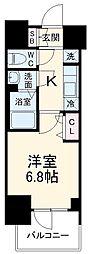 名古屋市営鶴舞線 浅間町駅 徒歩10分の賃貸マンション 11階1Kの間取り