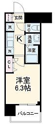 メイクス矢場町 7階1Kの間取り