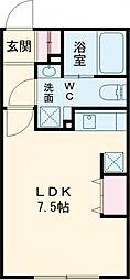 LUORE新江古田 3階ワンルームの間取り