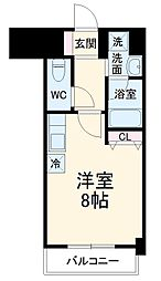 名古屋市営東山線 本郷駅 徒歩3分の賃貸マンション 7階ワンルームの間取り