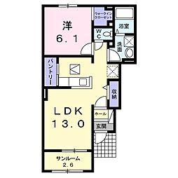JR両毛線 山前駅 徒歩24分の賃貸アパート 1階1LDKの間取り