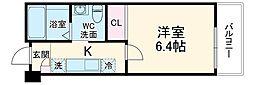 (仮称)前原西2丁目37新築アパート 2階1Kの間取り