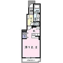 JR常磐線 日立駅 3.2kmの賃貸アパート 1階1Kの間取り