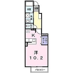 JR土讃線 善通寺駅 徒歩8分の賃貸アパート 1階1Kの間取り