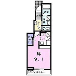 JR飯田線 船町駅 徒歩26分の賃貸アパート 1階1Kの間取り