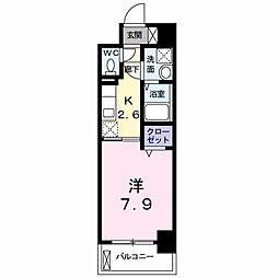 西鉄天神大牟田線 井尻駅 バス6分 須玖下車 徒歩1分の賃貸マンション 3階1Kの間取り