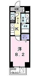 名古屋市営桜通線 桜山駅 徒歩4分の賃貸マンション 7階1Kの間取り
