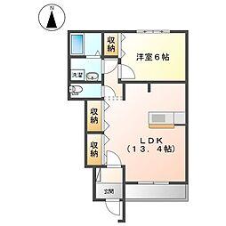 JR八高線 児玉駅 徒歩23分の賃貸アパート 1階1LDKの間取り