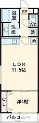 クリフビレッジG棟 地下1階1LDKの間取り