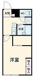 JR両毛線 前橋駅 バス25分 競技場入口下車 徒歩3分の賃貸アパート 1階1Kの間取り