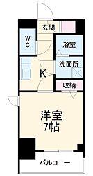 名古屋市営桜通線 中村区役所駅 徒歩9分の賃貸マンション 7階1Kの間取り