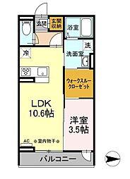 仮)D-room田村町 3階1SLKの間取り