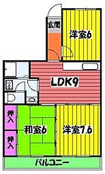 エステル和泉 3階3LDKの間取り