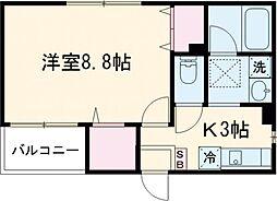 Hikari Place 1階1Kの間取り