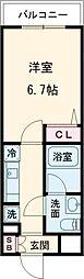 AZEST亀有II 3階1Kの間取り