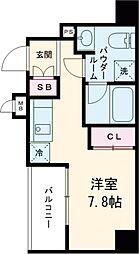 都営浅草線 戸越駅 徒歩6分の賃貸マンション 3階ワンルームの間取り