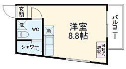 DAYBYDAY FUNABASHI 3階ワンルームの間取り