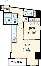 プラウドフラット西早稲田 10階1LDKの間取り