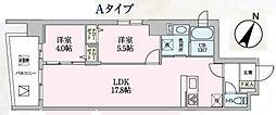 Luce 5階2LDKの間取り