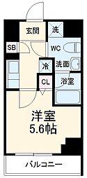 京急本線 京急川崎駅 徒歩6分の賃貸マンション 5階1Kの間取り