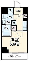 京急本線 京急川崎駅 徒歩6分の賃貸マンション 10階1Kの間取り