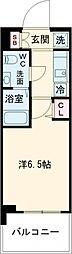 SHOKEN Residence亀有 11階1Kの間取り