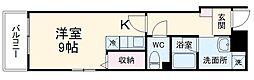 レオ伍拾八番館 2階ワンルームの間取り